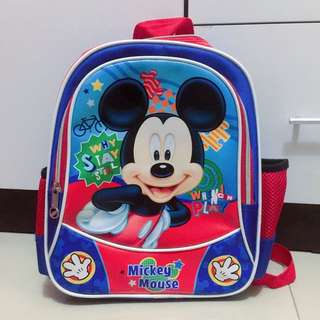 Tas Mickey Mouse Blue Red