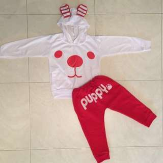 Cute set clothes for boy or girl