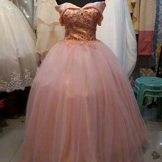 Ball Gowns  - Peach