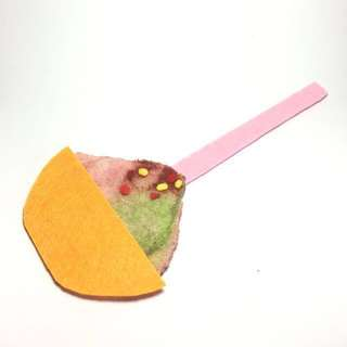 Handmade Ice Kachang felt bookmark