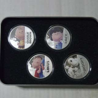 "Inspired 2015 Niue 1 oz Silver Proof Like Coin ""The Peanuts Movie"""