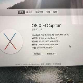 "MacBook Pro 15"" mid 2015 80%new"