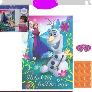💕Frozen party supplies - party game / party deco / party backdrop
