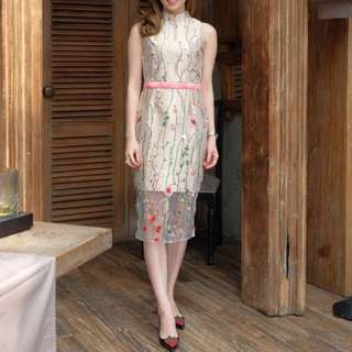 Mandarin Collar CNY dress