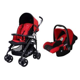 Halford s8 stroller and car seat for sale
