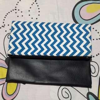 Blue Stripe Hand Bag