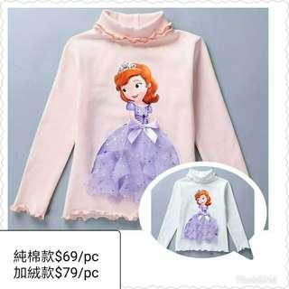 New新款女童純棉長袖T-shirt