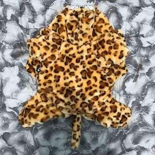 豹紋保暖寵物衣服