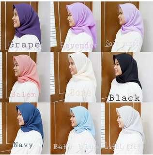 Hijab square polly cotton