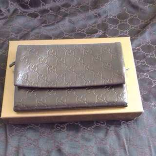 Authentic Gucci Brown Guccissma Leather wallet