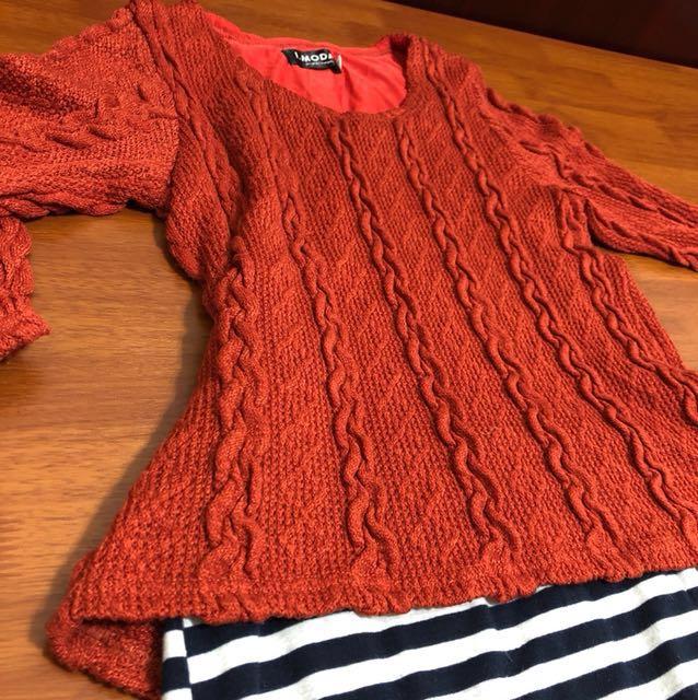(很新)針織假兩件洋裝