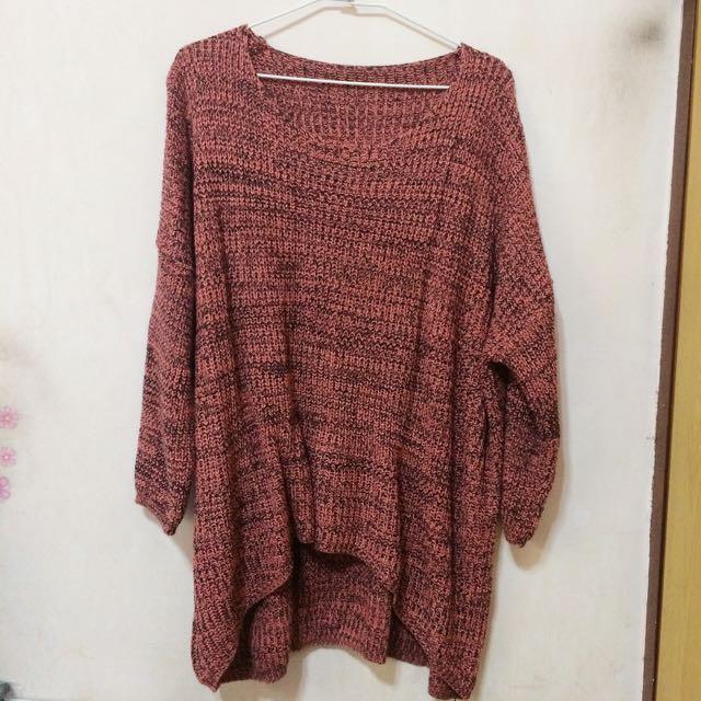 粉色美美毛衣