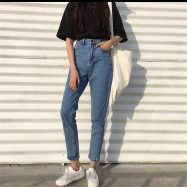 直筒牛仔褲