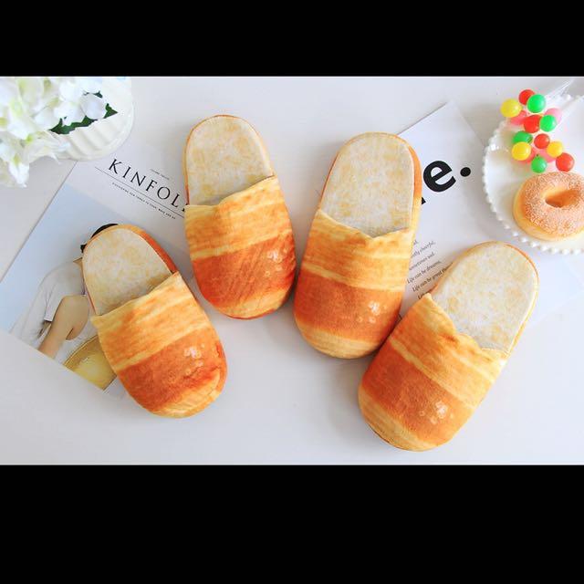 麵包吐司防滑拖鞋