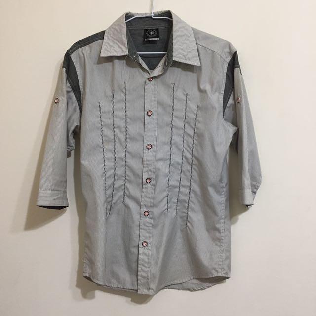 二手✨灰白條紋襯衫 M