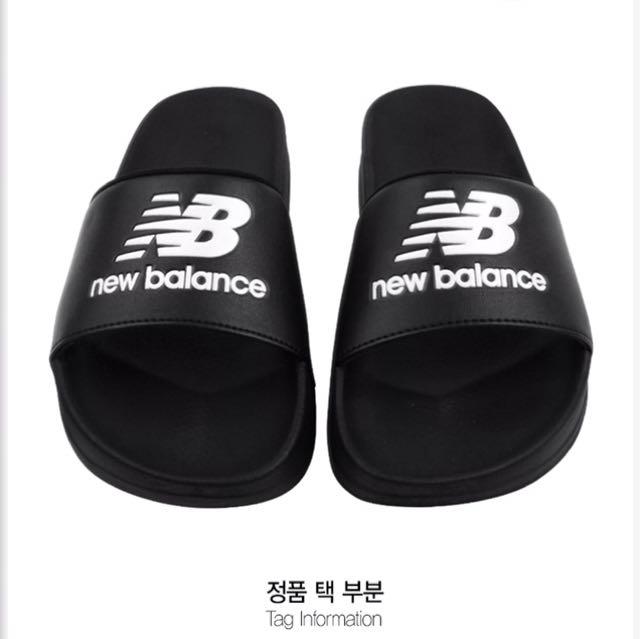 韓國代購 NEW BALANCE 黑硬厚底拖鞋(SD1101EBB) 1250含運  代購