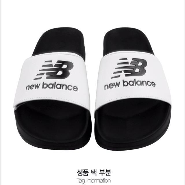 韓國代購 NEW BALANCE 黑硬厚底拖鞋(SD1101EBW) $ 1180