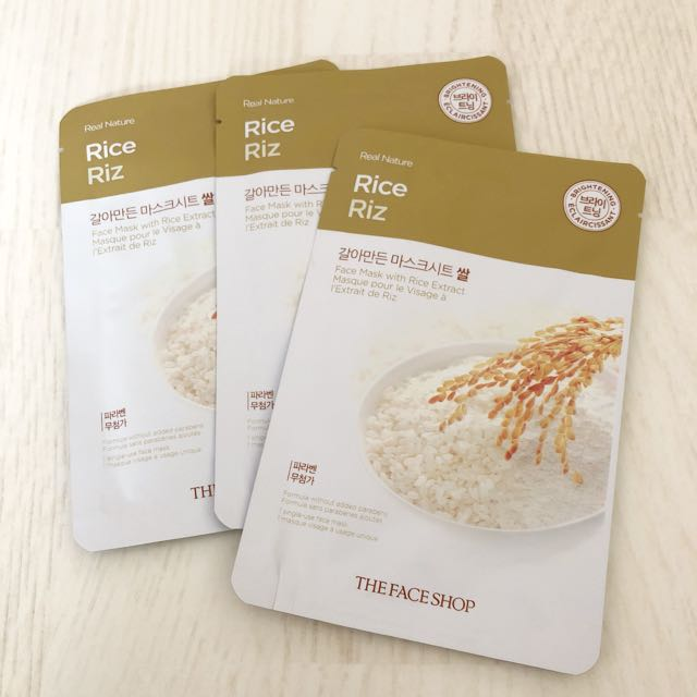 [ THE FACE SHOP ] Rice Riz Mask