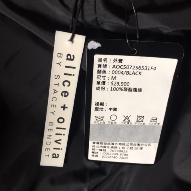 精品Alice+Olivia 黑色外套