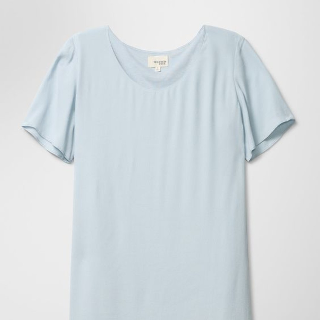 Aritzia WILFRED FREE Teigen baby blue dress - M