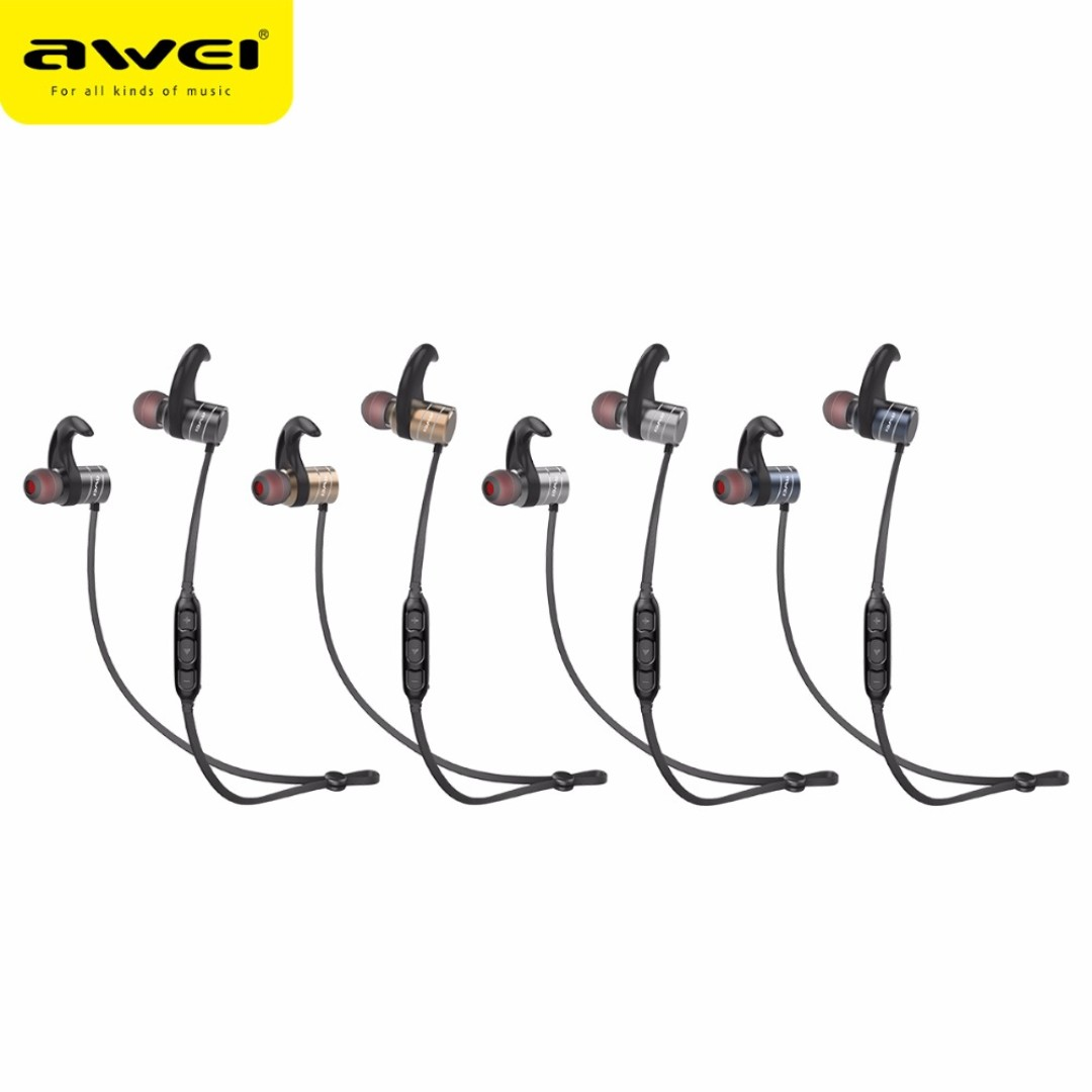 16a6ffb777e Authentic AWEI AK1 Bluetooth V4.1 In-ear Earphone - BLACK / GRAY ...