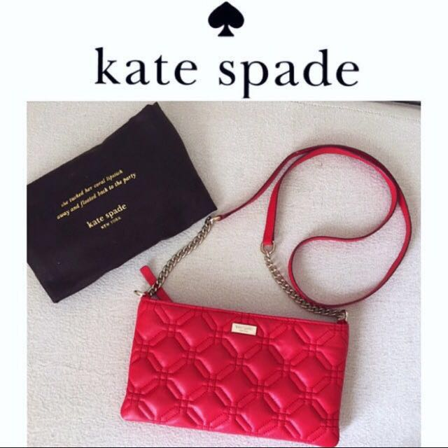 AUTHENTIC KATE SPADE Red Sling Crossbody Bag