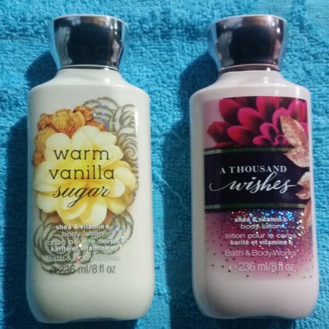 Bath & Body Works Body Lotion (Warm Vanilla Sugar / A Thousand Wishes)
