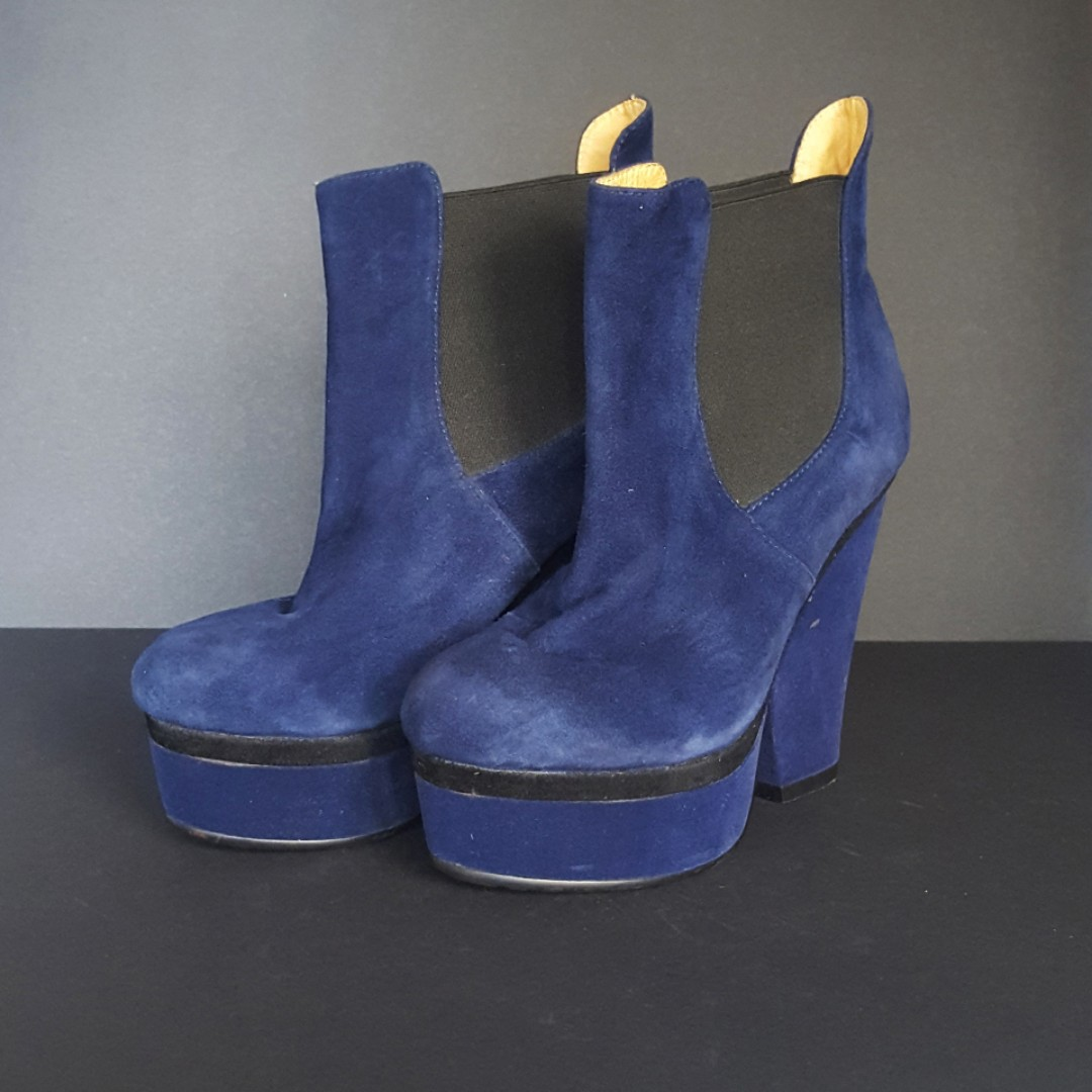 Bebe Blue Suede Boots