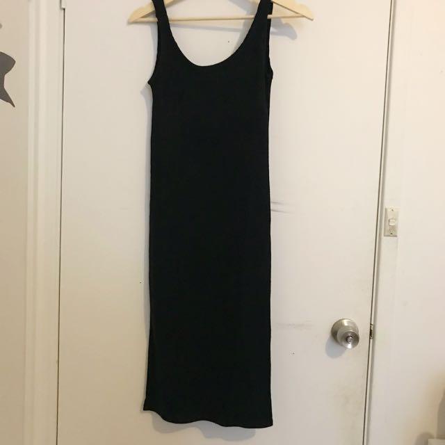 Black knit dress size S