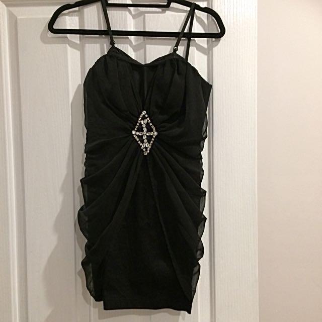 Black mini dress Size 8