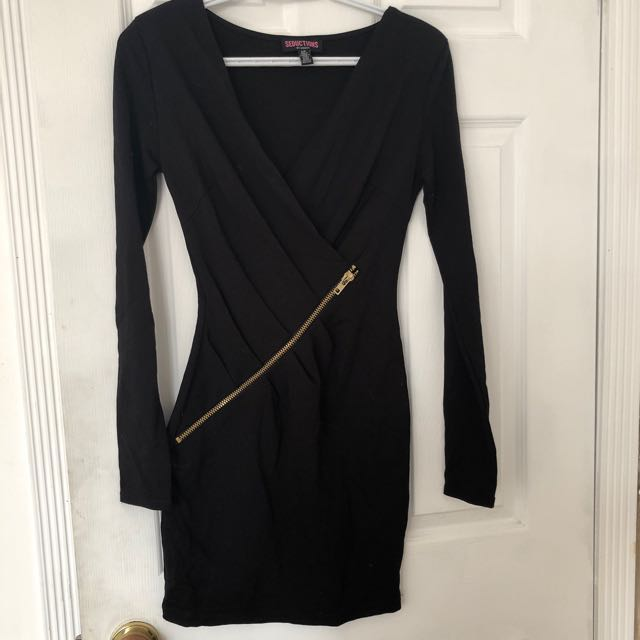 Black zippered dress