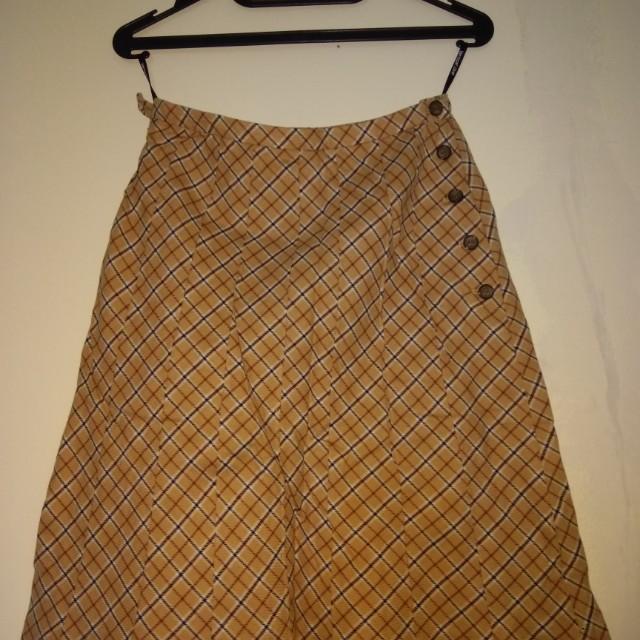 Block Brown Skirt