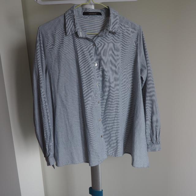 Blue White Stripes Shirt