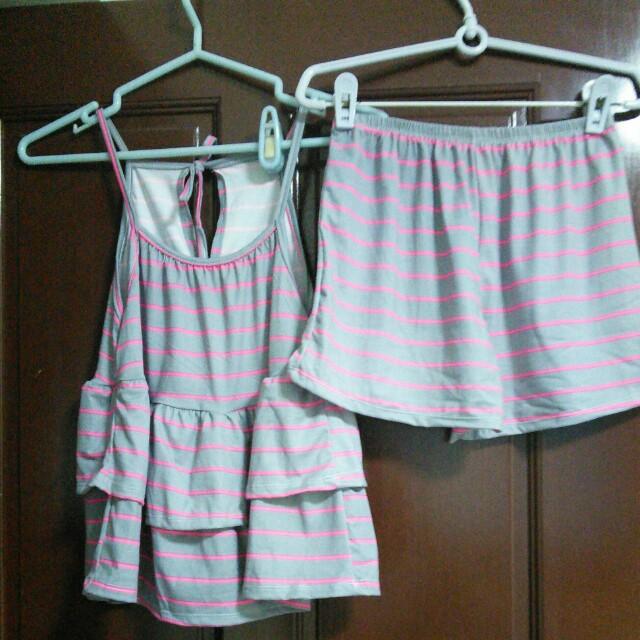 BN Two Piece Stripe Sleepwear