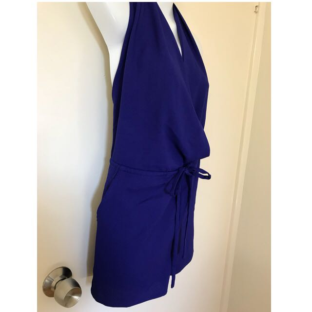 BNWT Royal Cobalt Blue Chloe Jumpsuit Playsuit Romper Onesie Size 10-12