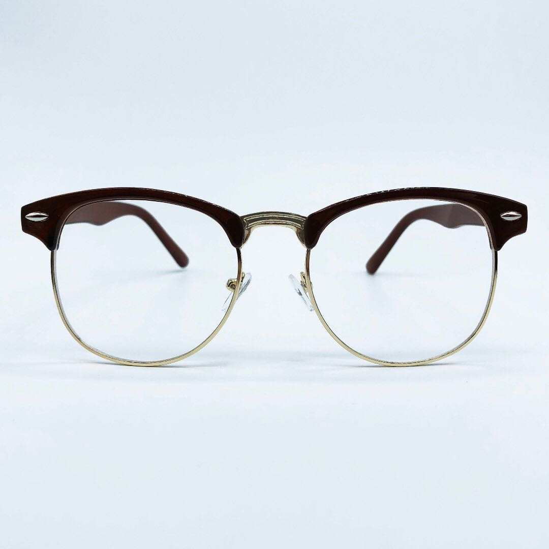 Brown Clubmaster Specs Glasses Frame, Men\'s Fashion, Accessories on ...