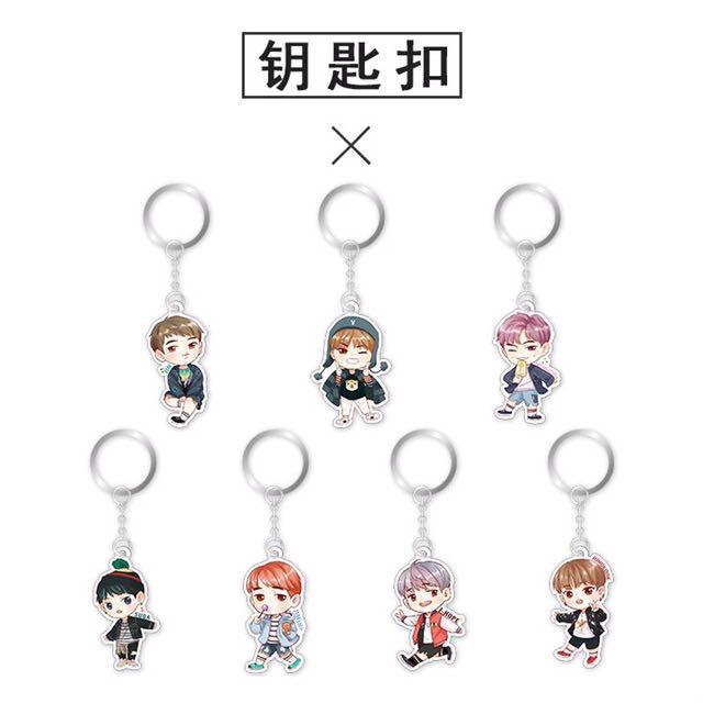 BTS keyring Keychain charm