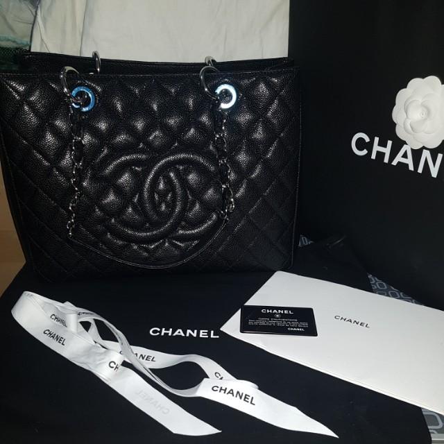 Chanel caviar tote