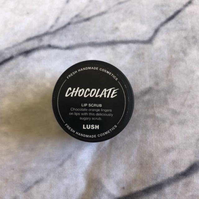 Chocolate lip scrub