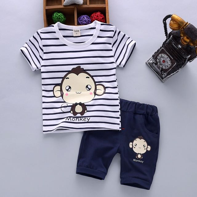 a25ce83b95c0 CNY hot sales 🔥-Boys short-sleeved suit small children summer 1-3 ...