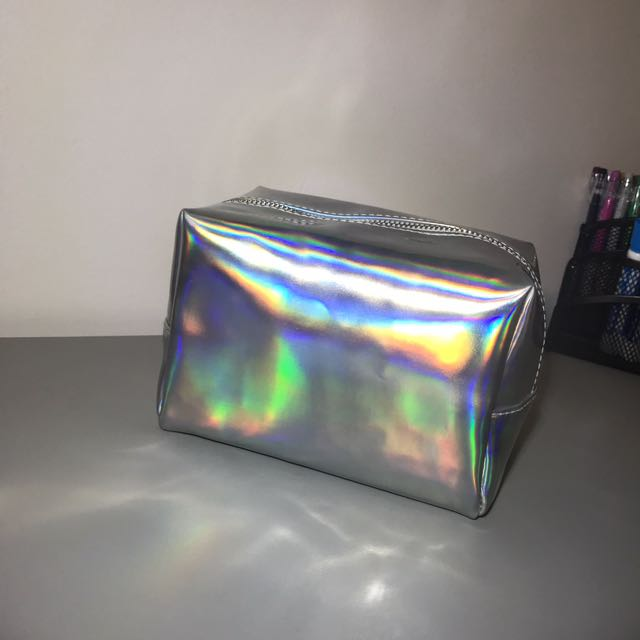 Cute Holographic makeup bag