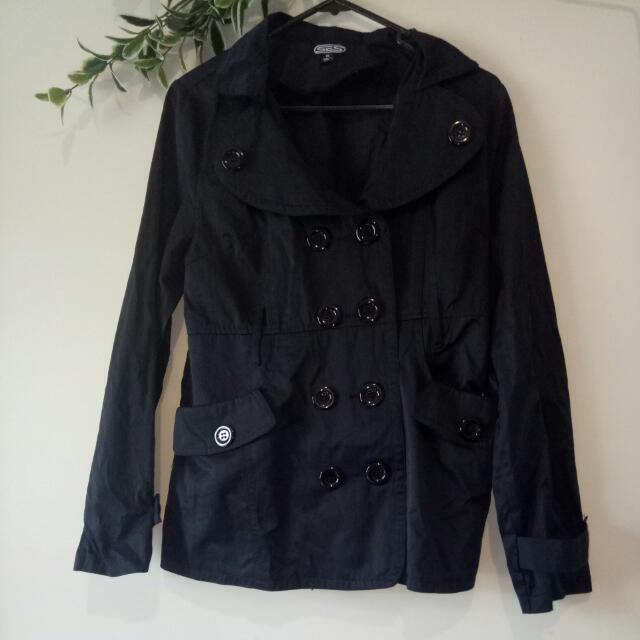 Dark Navy Blue Button Up Jacket Size 10 SES