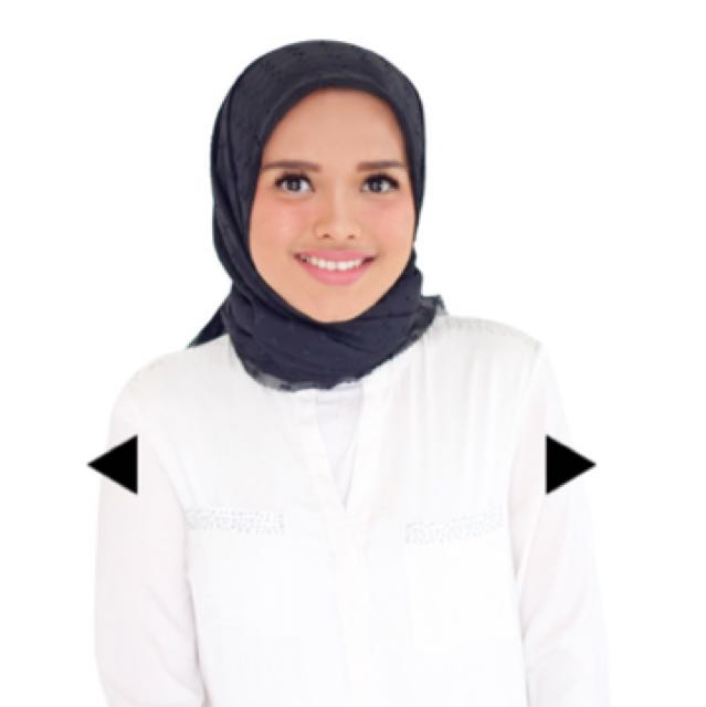 Ditty hijab square button scraves