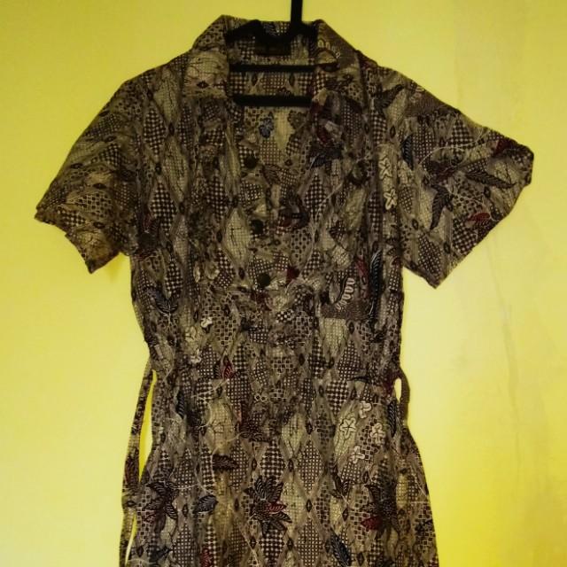 Dress Batik Cokelat