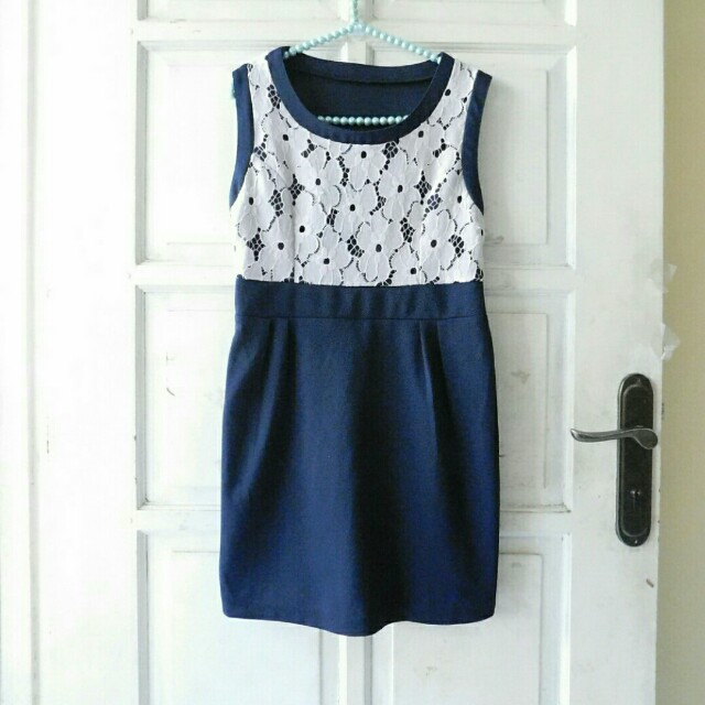 DRESS KOREAN FLOWER LACE