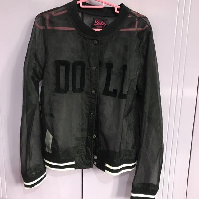 Forever 21 x Barbie Mesh Varsity Jacket