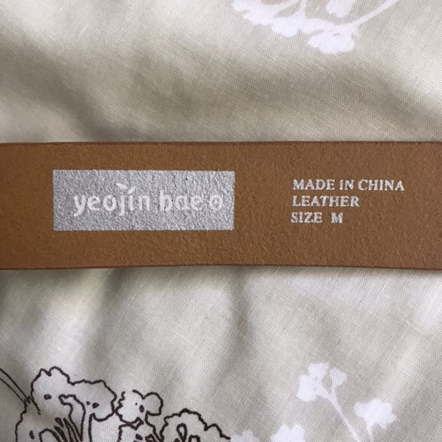 Genuine leather Yeojin Bae for Target tan brown belt size M or size 6-8