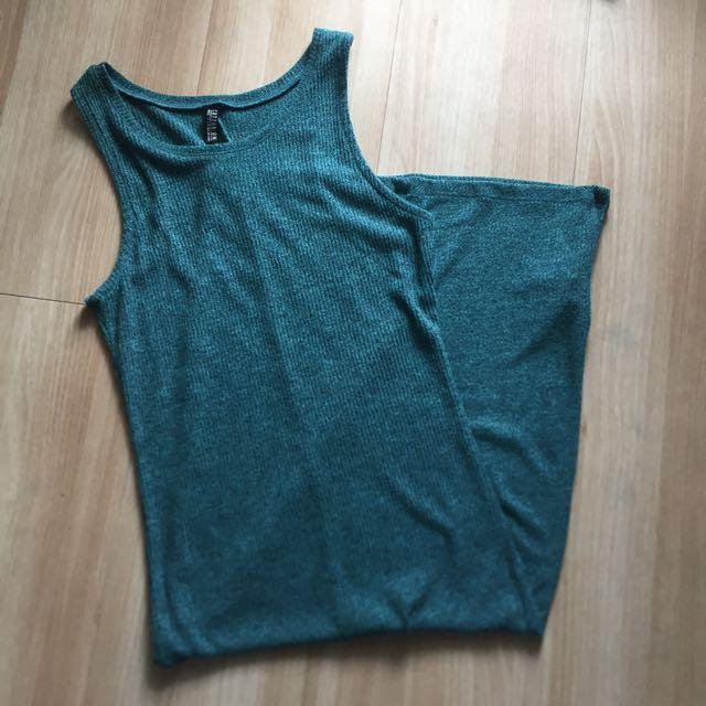 Greenish Blue Dress