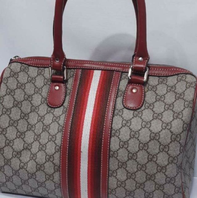 Gucci pvc leather 33cm handbag