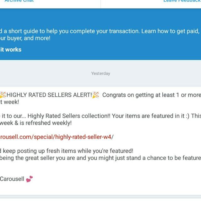 Highy rated seller!! Thank u 😄❤❤❤